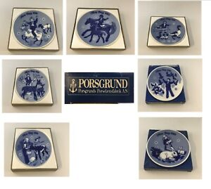 Porsgrund Norway Mors Dag, Mothers Day, Plates, 1970-1982, Choose Your Plate NEW