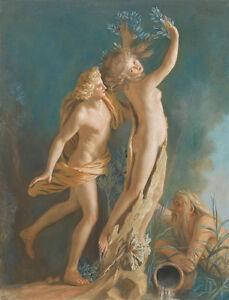 Apollo and Daphne by Jean-Etienne Liotard 75cm x 57.2cm Canvas