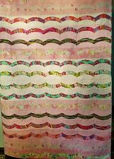 Pink and Floral Bed Quilt