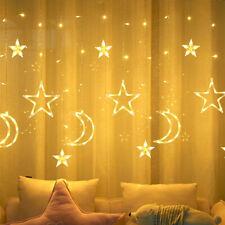 LED Vorhang Lichterketten Ramadan Muslim Moon Star Star Licht EID Mubarak Deko