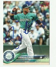 Seattle Mariners ROBINSON CANO  Signed 2018 Topps Series 1 Card #240