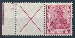 D.Reich Zusammendruck W 4 ungebraucht/*, mit Rand und Teil-HAN (69759)