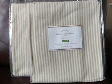 "Set of 4 Pottery Barn Gray Wheaton Stripe 84"" Grommet Drapes Curtains Neutral"