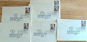FDC COVERS, 40 count, of  ALBERT EINSTEIN's Anniversary