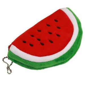 RED Fruit Watermelon Cartoon Plush Coin Purse Wallet Money Bag Handbag Case