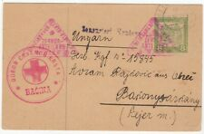 1918, August 9th. Austrian Field Post card with Croatian Red Cross Cachet