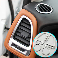 Fit For Honda HR-V HRV Chrome Dash Air Vent Cover Trim Bezel Molding Accent