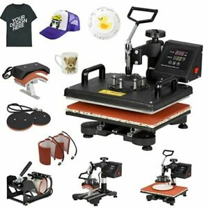 5 in 1 Heat Press Machine Transfer Sublimation T-shirt Mug Cup Plate Cap Hat