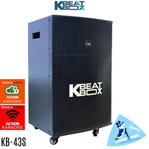 KB-43S KBEATBOX POWERED KARAOKE SYSTEM SPEAKER + 2 WIRELESS MICS - 150 WATTS