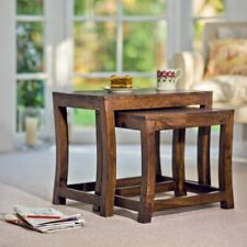 2 Nest Stool Sheesham Bed Room/Rest Room Stool (Brown)