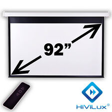 "HiViLux Motor-leinwand 92"" 16:9 203x114cm 3D/2D/FullHD/Gain=1,2/Vorlauf 50CM +FB"