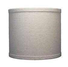 Urbanest Linen Drum Lamp Shade, 8-inch x 8-inch x 7-inch, Natural, Spider Fitter