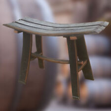 Solid Oak Whisky Barrel Stave Bench for Garden | Patio | Conservatory
