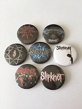 7 Slipknot button Badges Psychosocial The Devil in I Snuff Wait and Bleed XIX