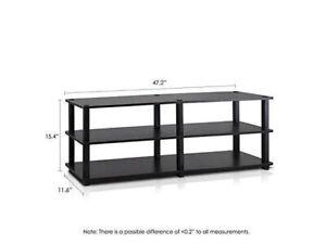 Furinno Turn-S-Tube No Tools 3 Tier Entertainment TV Stand Espresso/Black