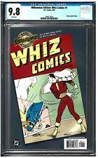 MILLENNIUM EDITION: WHIZ COMICS #1 CGC 9.8 (3/00) DC Comics Gold foil