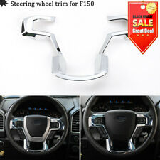 Chrome Steering Wheel Moulding Cover Trim for 15-19 Ford F150 Inner Accessory MM