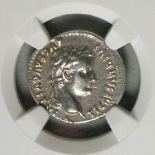 Ek // Roman Empire : Tiberius AD 14-37 AR Denarius NGC XF