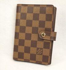 Authentic Louis Vuitton Agenda PM Notebook Cover  Damier Ebene Brown
