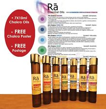 RA 7x Chakra Essential Oil Blend 10+30ML• Chakra Poster & FREE POST Aromatherapy