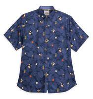 New Disney Parks Tommy Bahama Mickey & Minnie Mouse Luau Camp Hawaiian Shirt 3XL