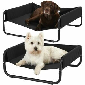 BUNTY Side Elevated DOG BED - Large Size plus one free dog clip on safety light