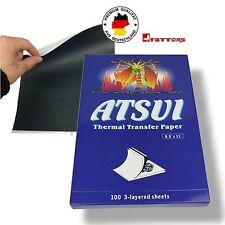 100 original ATSUI Thermo Papier TATTOO PAPER MATRITZENPAPIER vertrieb d.TATTORS