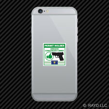 Oregon Concealed Carry Permit Holder Cell Phone Sticker Mobile 2a permited v2