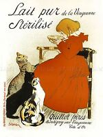 ADVERT MILK GUILLOT BROTHERS CAT MONTIGNY FRANCE POSTER ART PRINT BB1917A