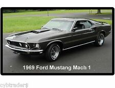 1969 Ford Mustang Mach 1 Black  Auto Refrigerator / Tool Box  Magnet