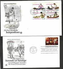 2 US FDCs AMERICAN INDEPENDENCE ISSUES 1977