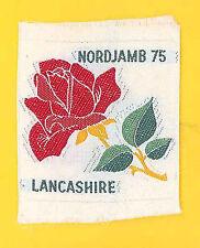 1975 World Scout Jamboree UNITED KINGDOM / BRITISH LANCASHIRE Contingent Patch