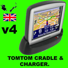 Tomtom One v4/version 4 Muelle/cuna & Ac Cargador Para El Hogar