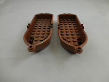 Lego Lot of 2 PIRATE Brown Boats 14 x 5 x 2