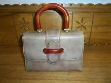 Vintage Sleek Julius Garfinckle Handbag Purse Washington Bakelite ? Handle