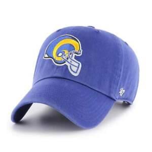 Los Angeles Rams 47 Brand Blue Vintage Clean Up Strap Adjustable Hat Dad Cap