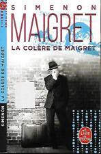 SIMENON--LA COLERE DE MAIGRET--LE LIVRE DE POCHE policier