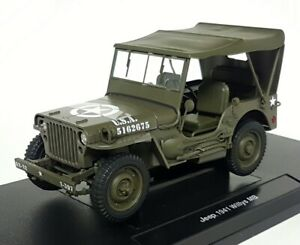 Welly 1/18 Scale Diecast - 18055H-W 1941 Jeep Willys MB Closed top US Army