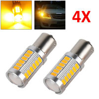4 Pcs 12V 33LED 581 BAU15S PY21W TURN SIGNAL YELLOW REAR INDICATOR BULB UK