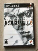 The Document of Metal Gear Solid 2 Sony Playstation 2 PS2 New
