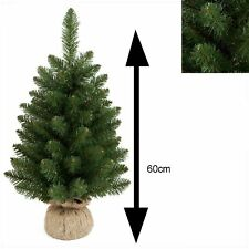 60cm Table Top Christmas Tree with Burlap Base Indoor Use - TR200BL