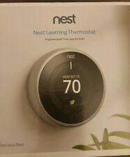Nest learning thermostat 3rd generation Stainless Steel, New factory sealed box