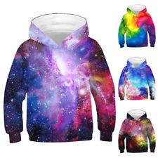 Kids Boys Girls Hoodie Sweatshirt Winter Warm 3D Print Pullover Hooded Coat Tops