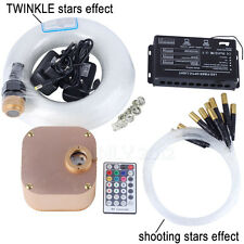 RGB LED Fiber Optic Cable Ceiling Star Lights Engine 16W Kit with Touch Remote