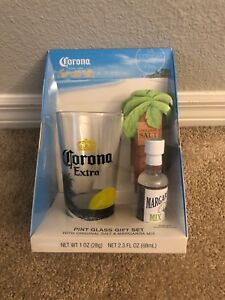 Corona Extra: Pint Glass Gift Set (With Salt & Margarita Mix)