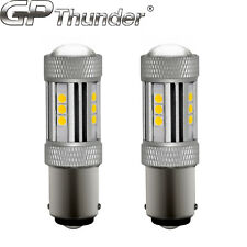 2X 1200 Lumens 1156 50W High Power Chip LED White Turn Signal Tail Light Bulbs
