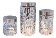 Vorratsdose 3 er Set Vorratsbehälter Frischhaltedose Aufbewahrung Dose Glas 6-6