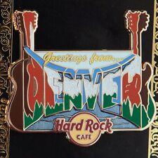 Hard Rock Cafe Pin GREETINGS FROM DENVER Colorado guitars log skull core lapel