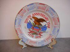 ASSIETTE DU 200 th ANNIVERSARY YEAR 1776-1976 ETATS UNIS DE 1975
