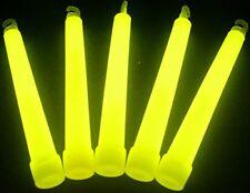 "Glow Sticks Bulk Wholesale, 25 6"" Industrial Grade Yellow Light Sticks. Bright"